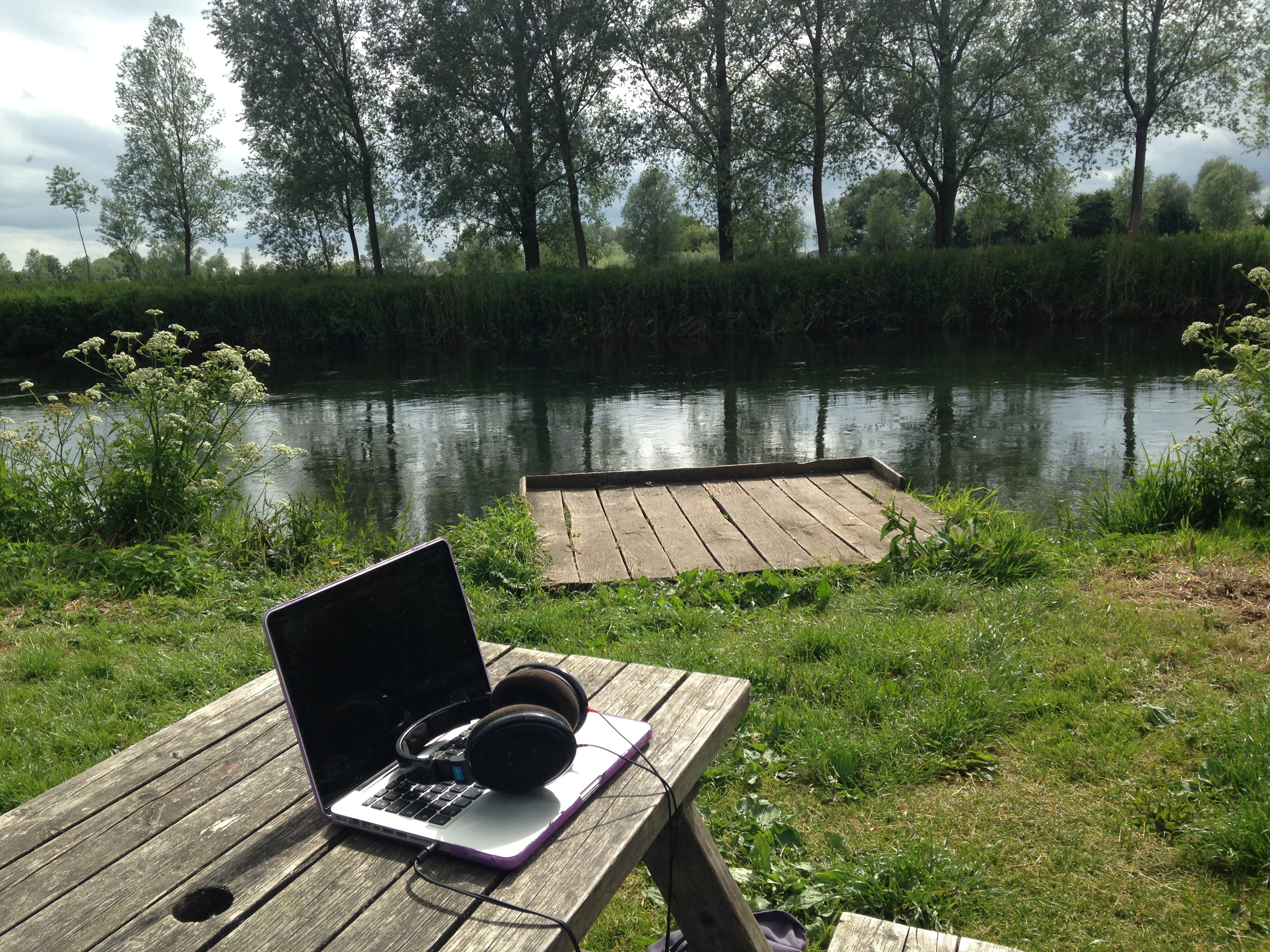 Studio by the river in the New Forest